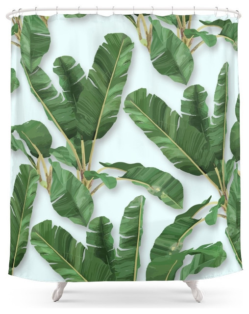Society6 Martinica Shower Curtain Tropical Shower Curtains