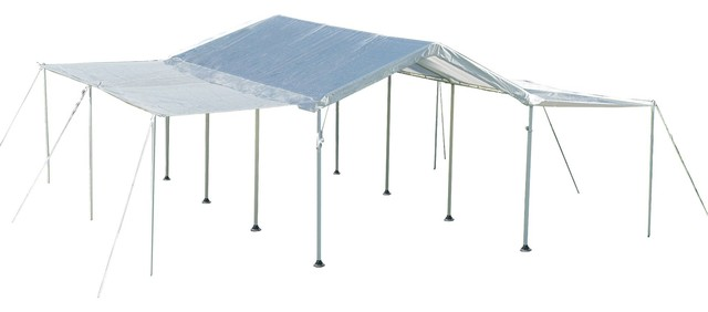 "10&x27;x20&x27; Canopy, 1-3/8"" 8-Leg Frame, White Cover, Extension Kit."