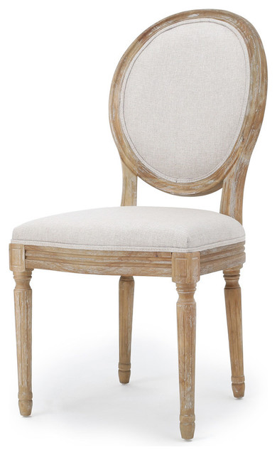 Hawthorne Fabric Dining Chairs, Griege/Natural, Set of 2