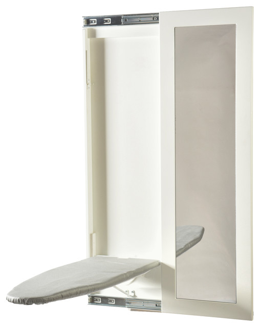 Wall Hanging Ironing Board slim-line wall mount ironing board - contemporary - ironing boards