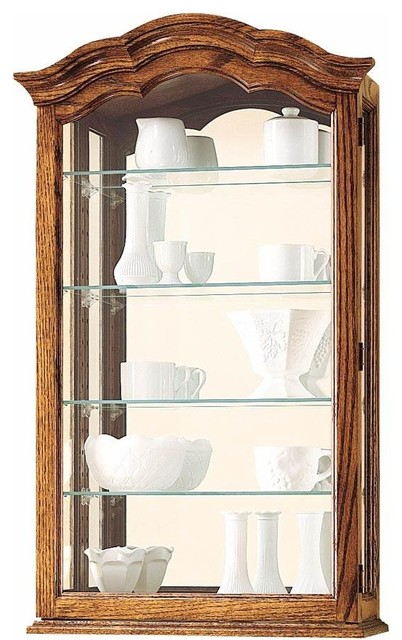 Vancouver II Arched Pediment Wall Curio Cabinet - Traditional - China Cabinets And Hutches - by ...