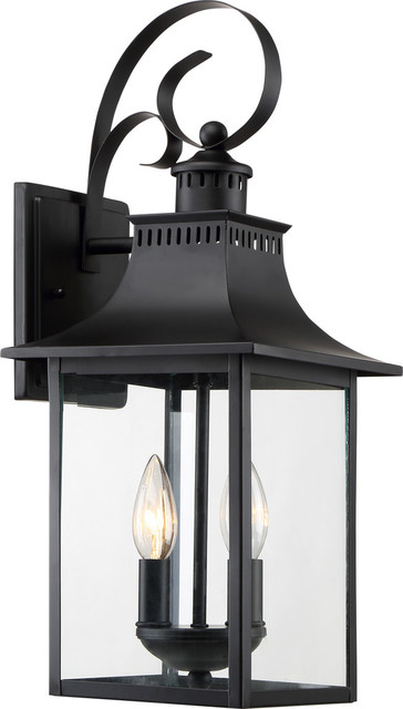 Quoizel Chancellor 19 2-Light Outdoor Wall Lantern, Mystic Black.