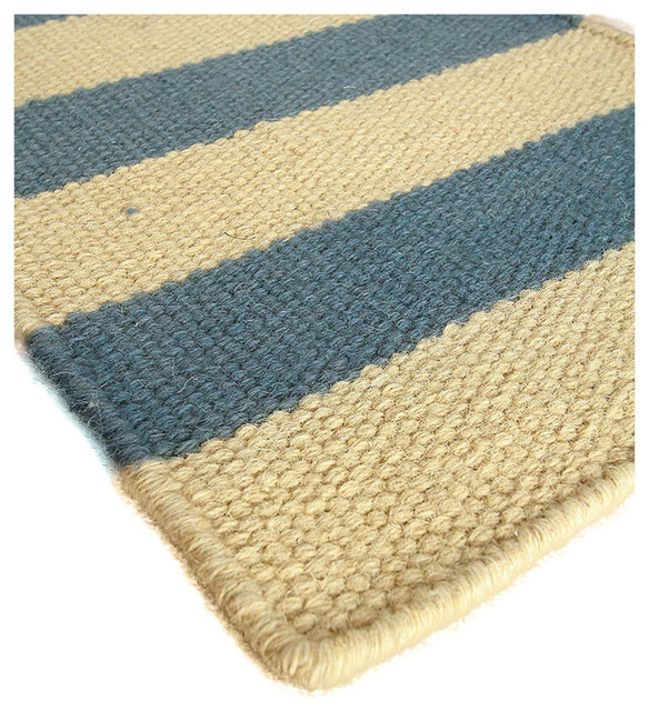 Isle of palms wool berber stripe rug transitional area for Wool berber area rug