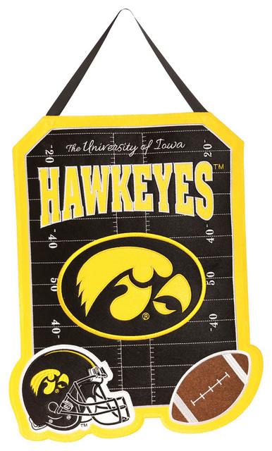 America Iowa Hawkeyes Outdoor Safe Felt Door Decor - Contemporary ...