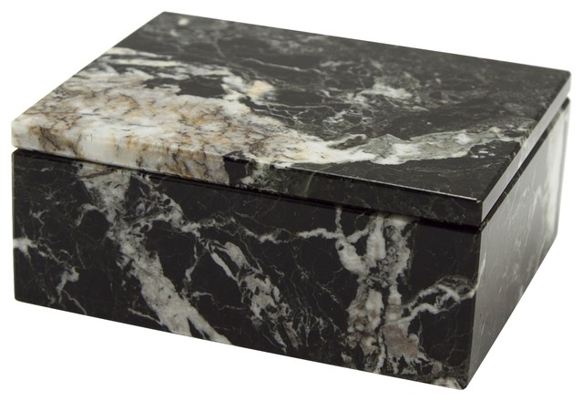 Asteria Collection Black Zebra Marble 5 Quot Rectangular
