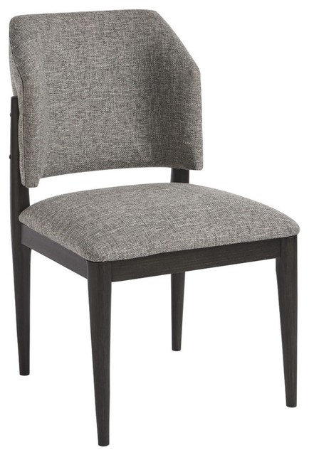 48bcb7e9565c Eva Upholstered Barrel Back Side Chair, Set of 2 - Midcentury - Dining  Chairs - by Zin Home