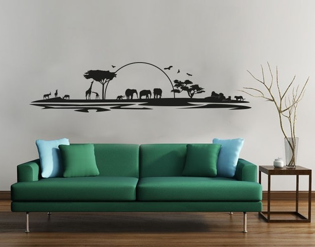 Safari Wall Decal Tropical Wall Decals By Style And Apply