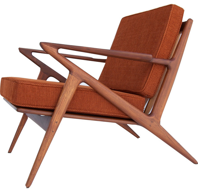 Bowery And Grand Bg003 02 Burnt Orange Chair Polaris Z Midcentury Armchairs Accent Chairs By Sportique
