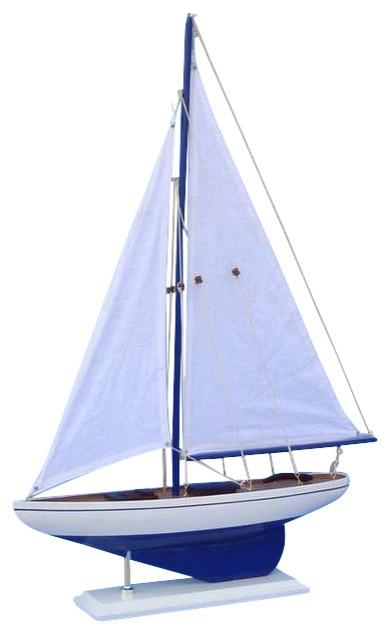 """Pacific Sailboat Wood Yacht Model, 25"""""""