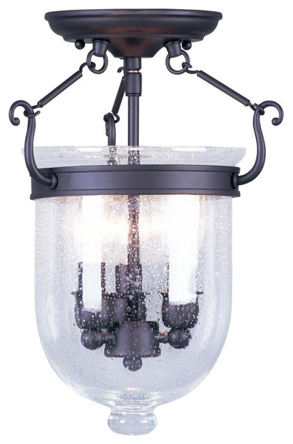 Foyer Semi Flush Mount Lighting : Joshua marshal bronze foyer hall semi flush mount