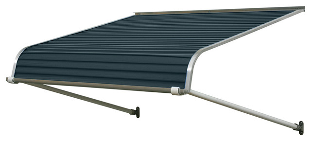 "1100 Series Aluminum Door Canopy 40""x30"" Projection, Bedford Blue."