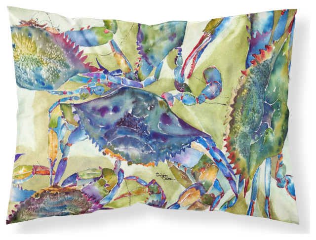 Crab All Over Moisture Wicking Fabric Standard Pillowcase, Large