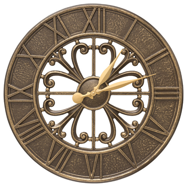 villanova 21 indoor outdoor wall clock outdoor clocks