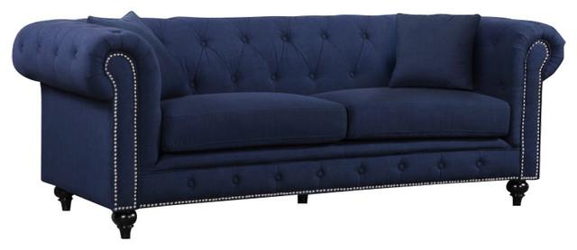 Phineas Sofa, Navy Linen.