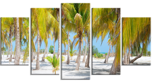 """""""Palm Trees"""" Landscape Photography Glossy Metal Wall Art"""