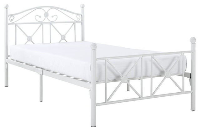 Modway Cottage Bed Frame In White.