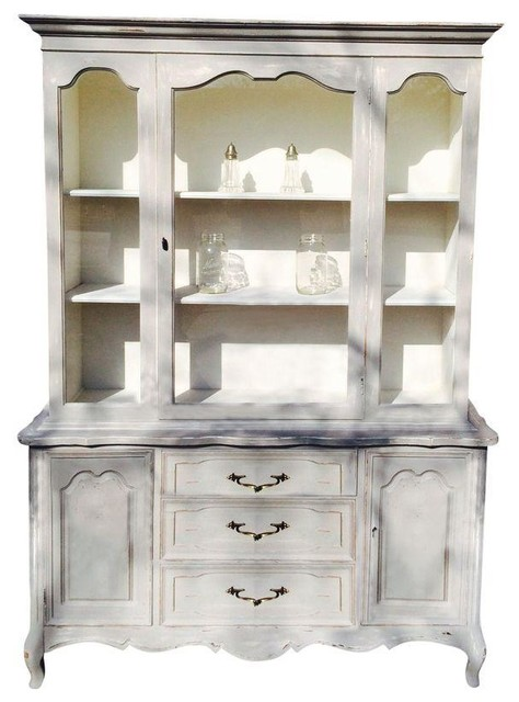 French Country China Cabinet - Modern - China Cabinets And Hutches - by Chairish