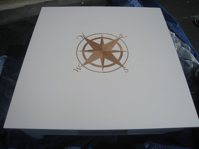 Compass Rose Reverse Stencil traditional