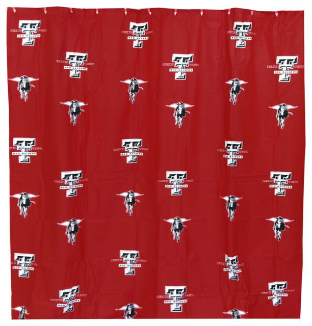 NCAA Texas Tech Red Raiders Shower Curtain Bathroom