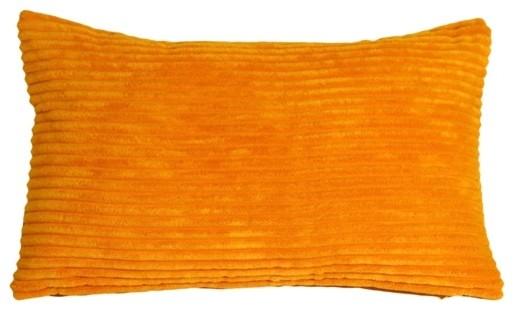 Pillow Decor - Wide Wale Corduroy Light Orange 12 X 20 Throw Pillow.