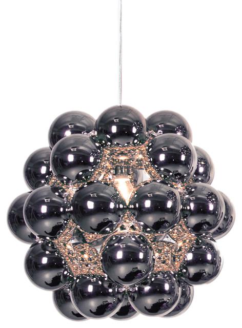 Innermost Modern Beads Penta Pendant Light, Gunmetal Gray.