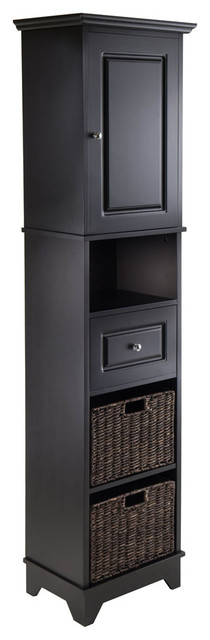 Winsome Wood Transitional Black Composite Wood Cabinet - Transitional - Storage Cabinets - by ...
