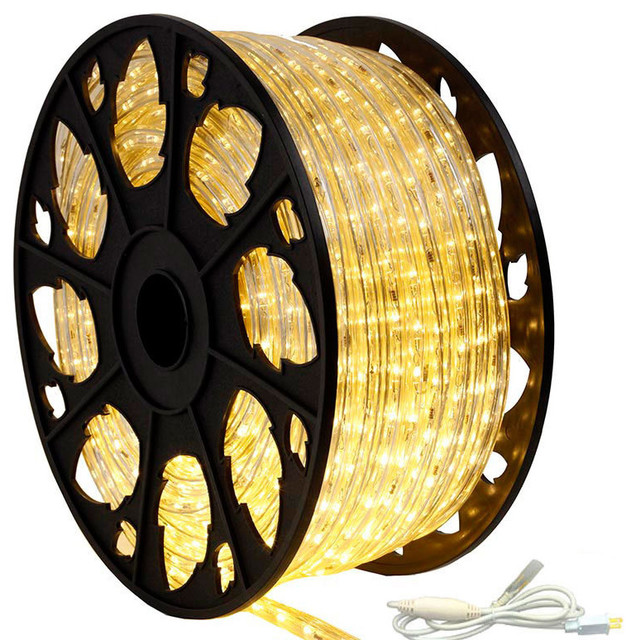 120v dimmable led warm white rope light 150 kit modern outdoor 120v dimmable led warm white rope light 150 kit standard mozeypictures Choice Image