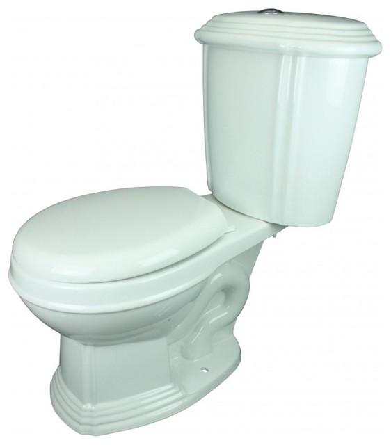 13752 Toilet White Sheffield Round Dual Top Flush