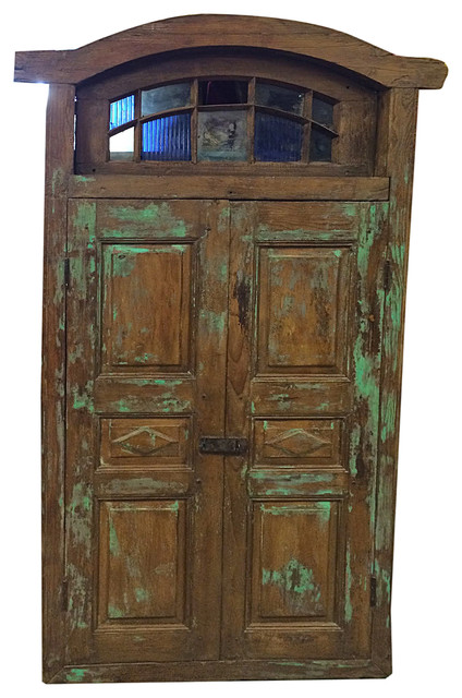 Consigned Terrace Doors Architectural Rajasthani Rustic Reclaimed Doors traditional-interior-doors