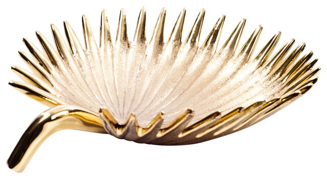 Decorative Leaf Bowl Captivating Rojo16  Brass Date Palm Leaf Bowl & Reviews  Houzz Design Ideas