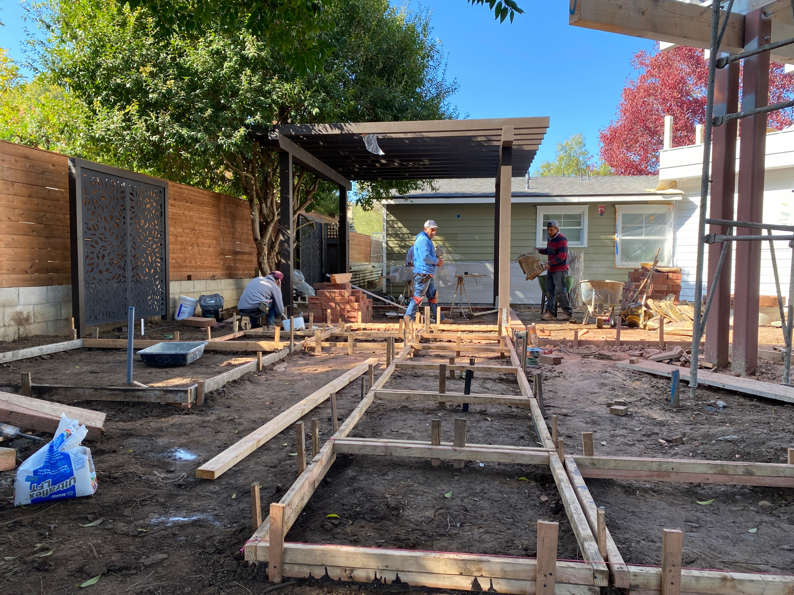 Forming for Concrete Pads