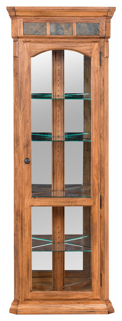 Sunny Designs Sedona Corner Curio Cabinet, Rustic Oak - Traditional - China Cabinets And Hutches ...