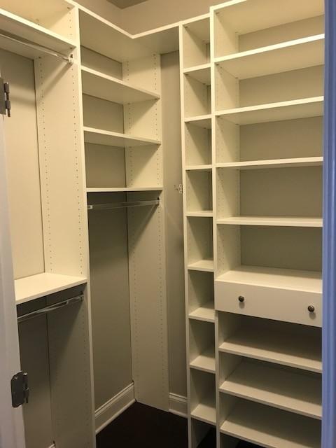Master walk-in closet in Mauldin, SC