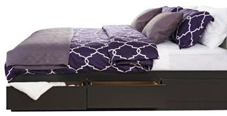 Prepac Sonoma Black King Platform Storage Bed with 6-Drawers