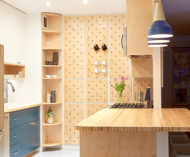 Space-Saving Pegboard Boosts a Kitchen?s Storage and Style