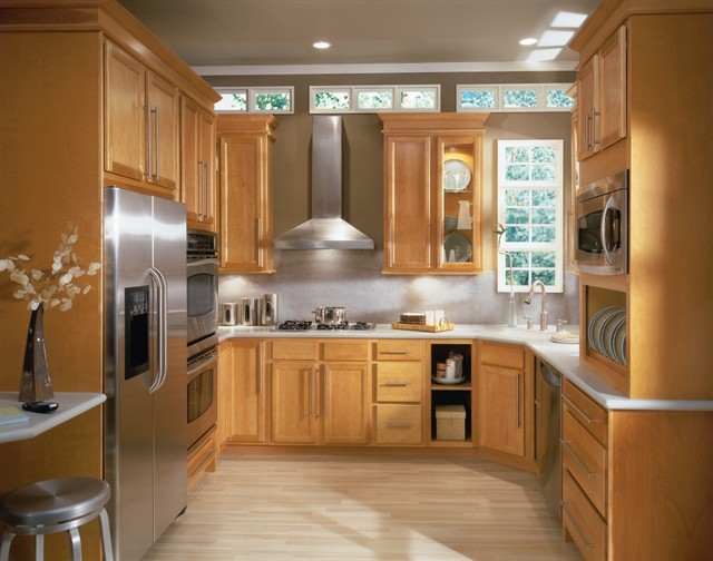 Aristokraft Birch Cabinets With Light Finish Kitchen Other By Masterbrand Cabinets Inc