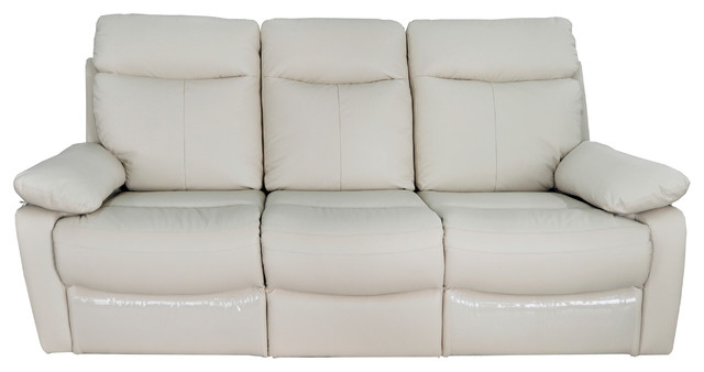 Ryker Upholstered Reclining Leather Sofa With Dual