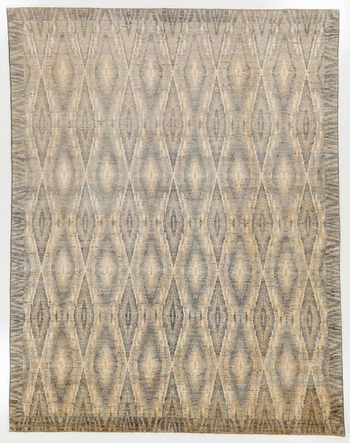 Shop Houzz Rugknots Oriental Rugs Tan And Blue Oriental