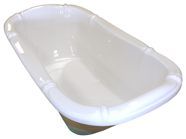 American Acrylic And Injection Drop-In Combination Tub, White.