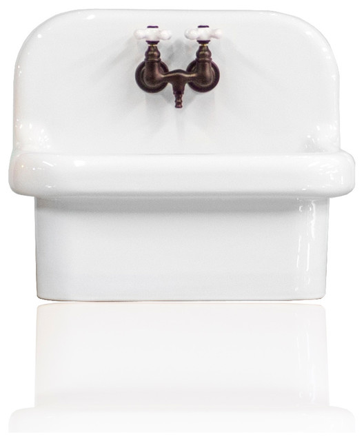 Small Wall Mount High Back Deep Basin