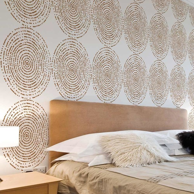 Bedroom Stencil Ideas. Resonance Allover Stencil Pattern  DIY home Decor Easy Wall contemporary wall