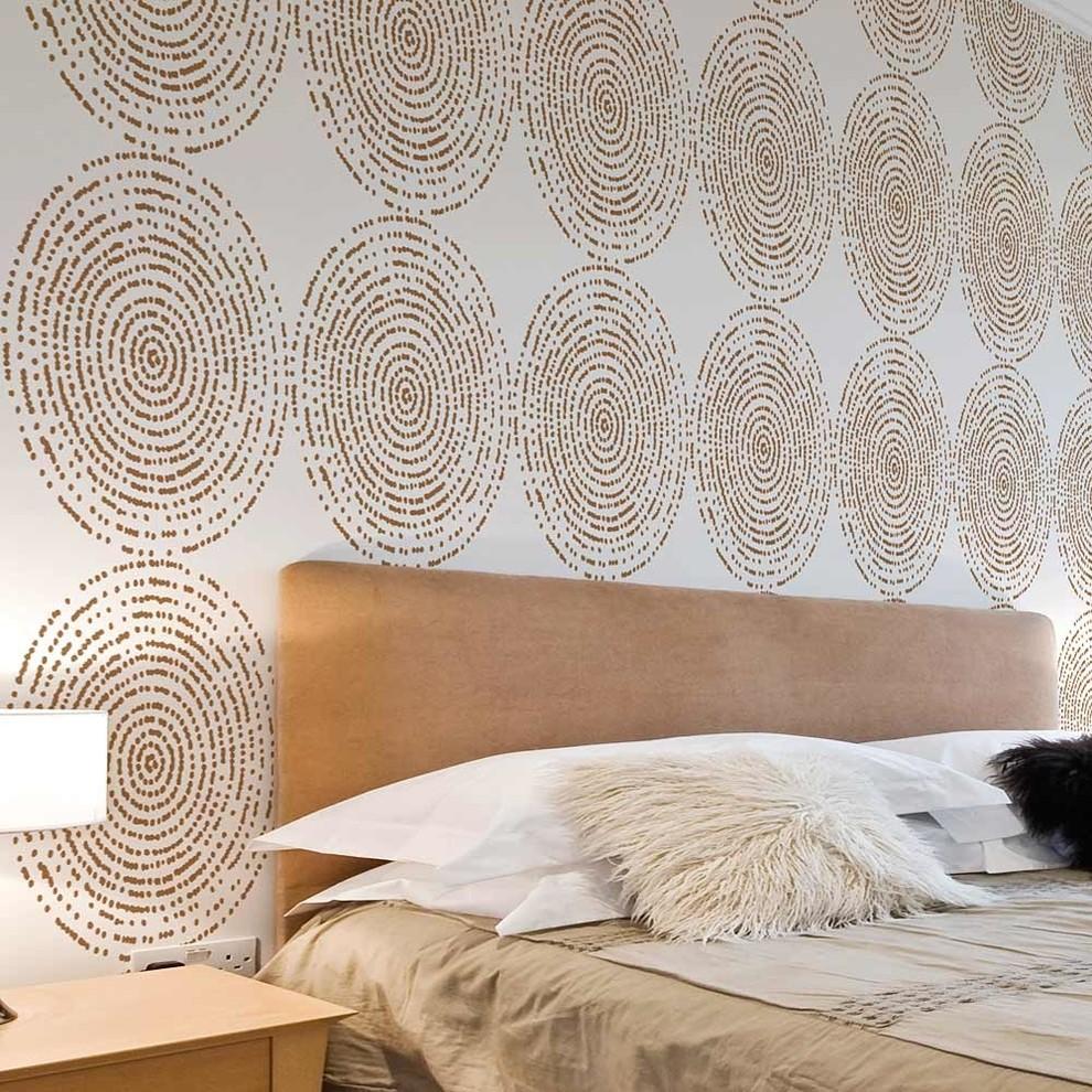 Resonance Allover Stencil Pattern, DIY home Decor, Easy DIY Wall Decor