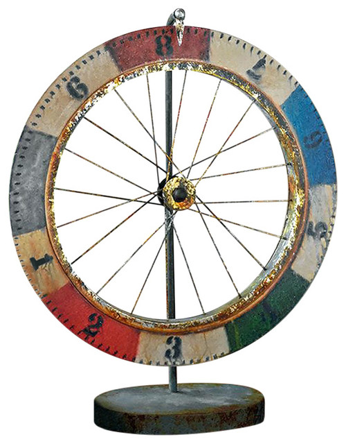 Carnival Game Wheel Of Chance Sculpture by Design Toscano