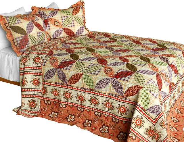Magic of Love 3PC Cotton Contained Patchwork Quilt Set Full/Queen ... : rustic quilt - Adamdwight.com