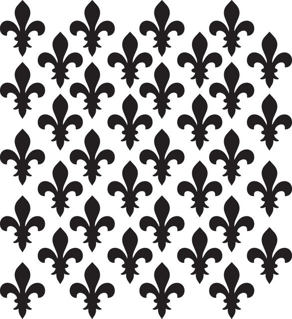 Fleur De Lis Pattern Wall Decal View In Your Room Houzz
