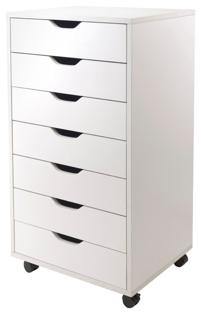 Halifax Cabinet, White, 7-Drawer - Transitional - Filing Cabinets - by Pot Racks Plus