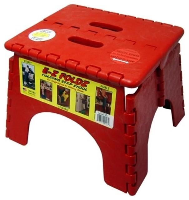 Remarkable B And R Plastics 9X11 5 Red Ez Folds Folding Step Stool 101 6R Ibusinesslaw Wood Chair Design Ideas Ibusinesslaworg