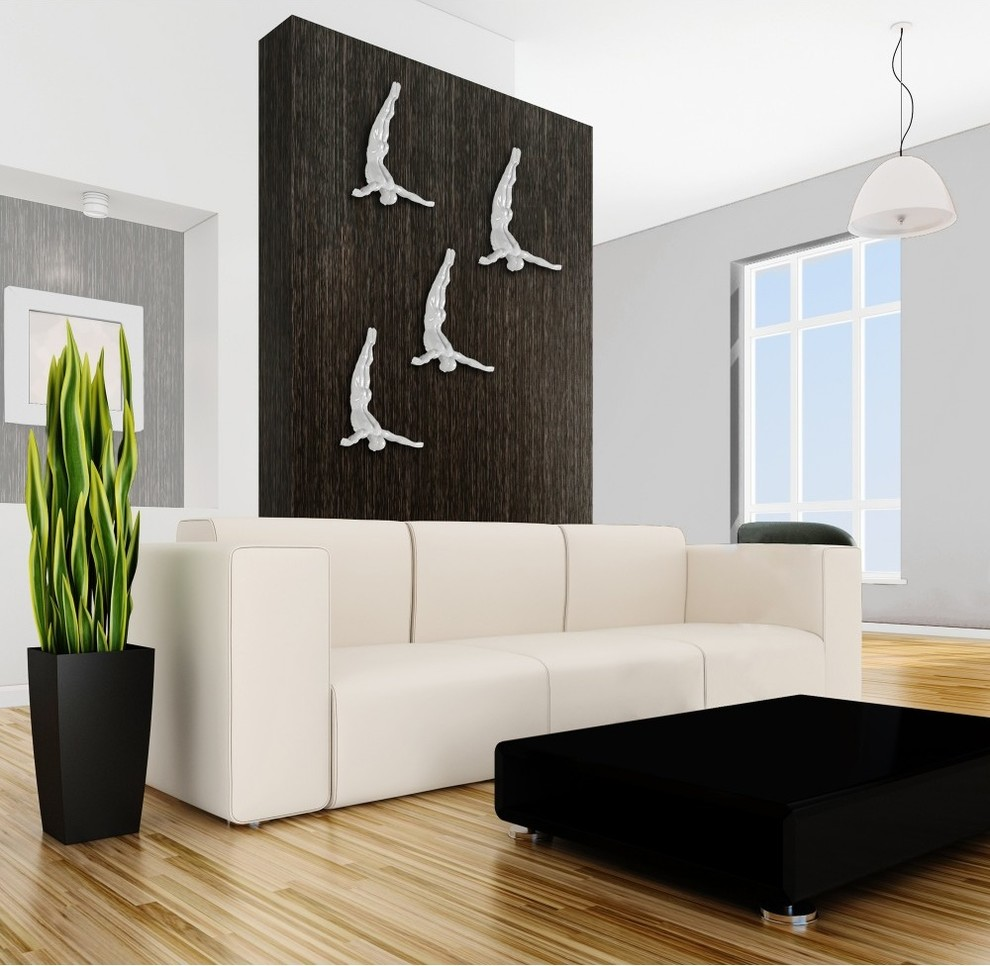Finesse Decor Diving Man Wall Art White