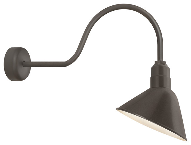 "Angle Reflector Wall Sconce Black 23"" Farmhouse Wall Sconces by"
