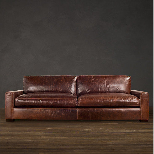Restoration Hardware Offers A Traditional Couch With Curved Arms The  Lancaster Or The More Masculine Maxwell Couch. Both Are Great, But Canu0027t  Pick Between ...